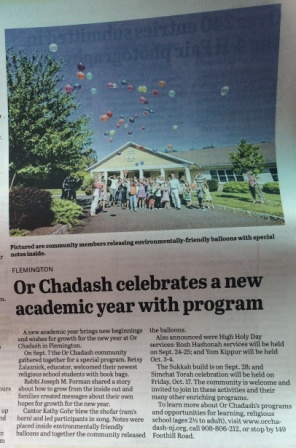 OC In The News - Or Chadash NJ